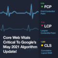 Core Web Vitals will be critical component to Google's May 2021 Search Algorithm.